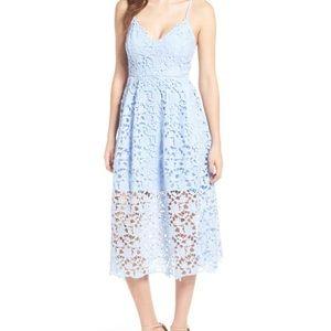 {Astr the Label} Periwinkle MIDI Dress